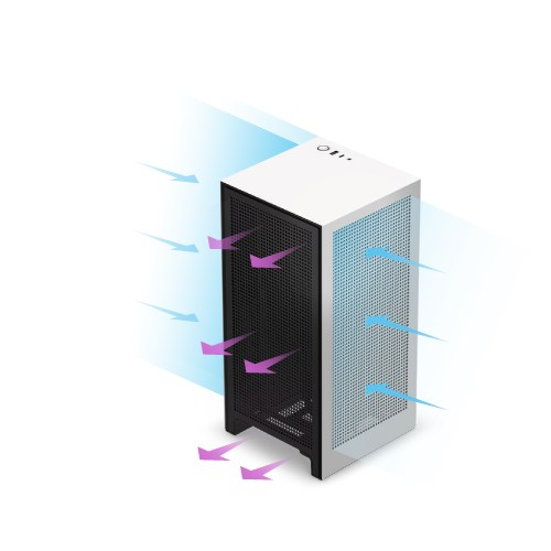 NZXT H1 Tempered Glass Mini-ITX Case with 650W PSU - Matte Black - Overview 5
