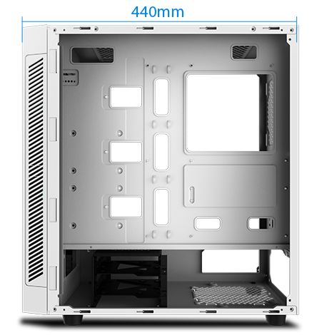 Matrexx 55 facing to the right with its side panel removed