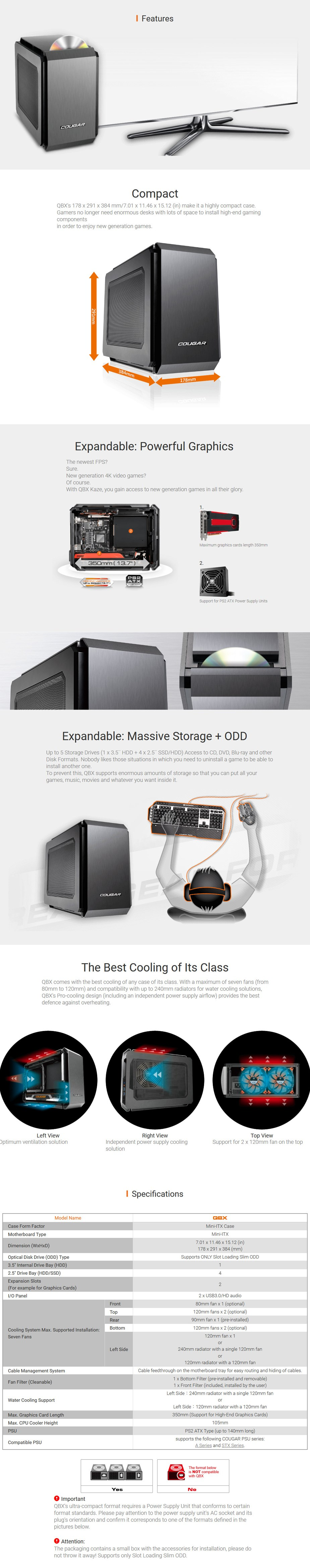 Cougar QBX Mini ITX Case - Desktop Overview 1