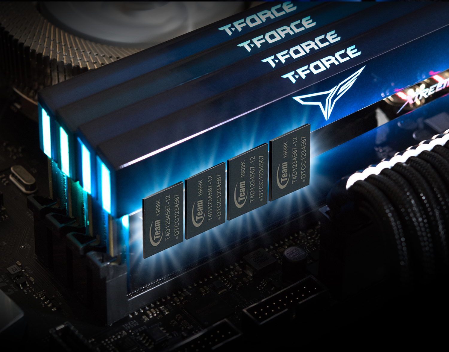 Team T-Force XTREEM ARGB Desktop Memory Model SELECTED IC CHIPS
