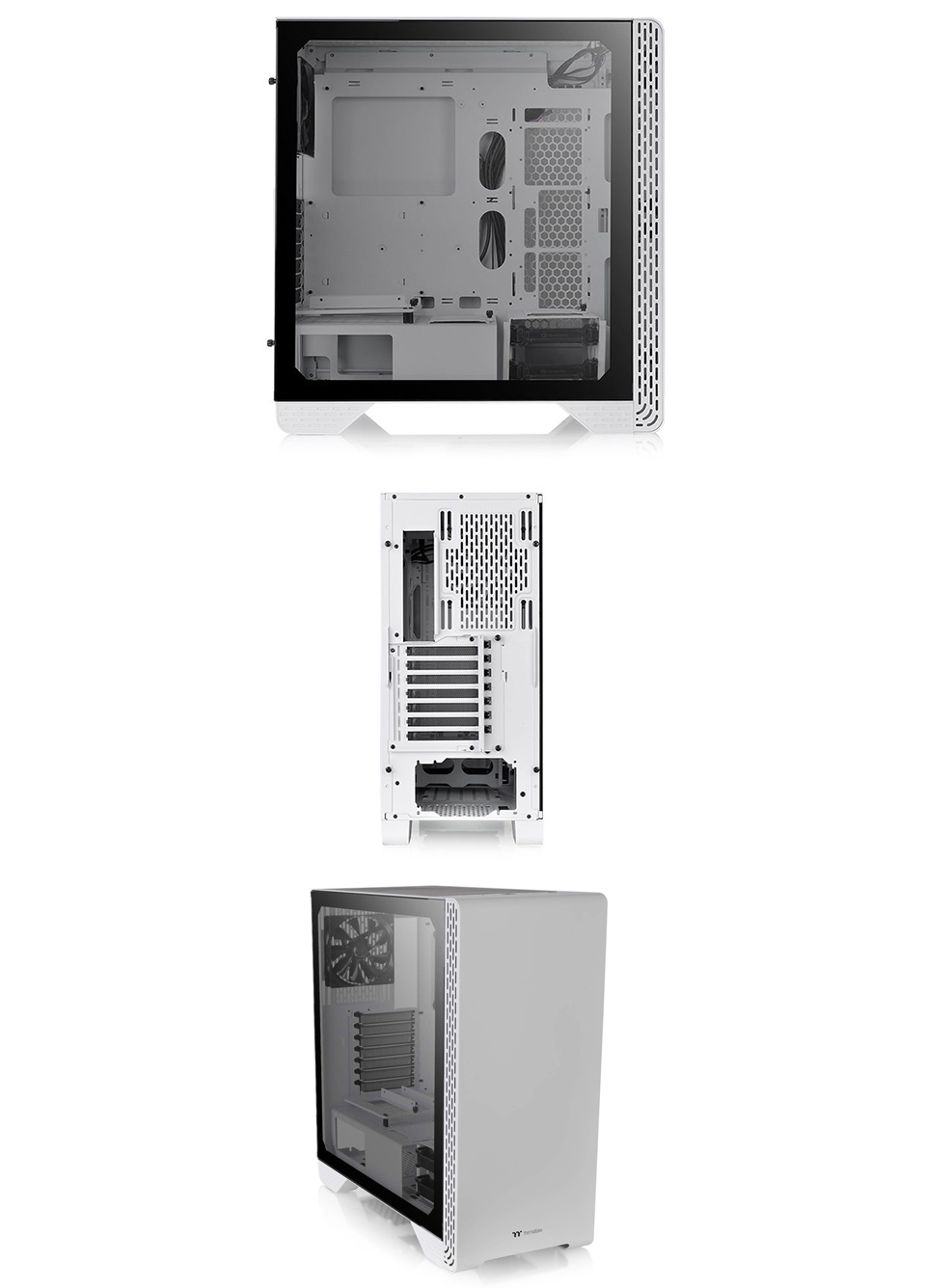Thermaltake S300 Tempered Glass Mid-Tower Case Snow Edition product