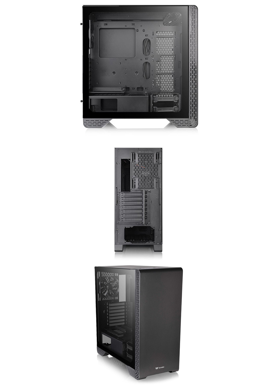 Thermaltake S300 Tempered Glass Mid-Tower Case Black Edition product