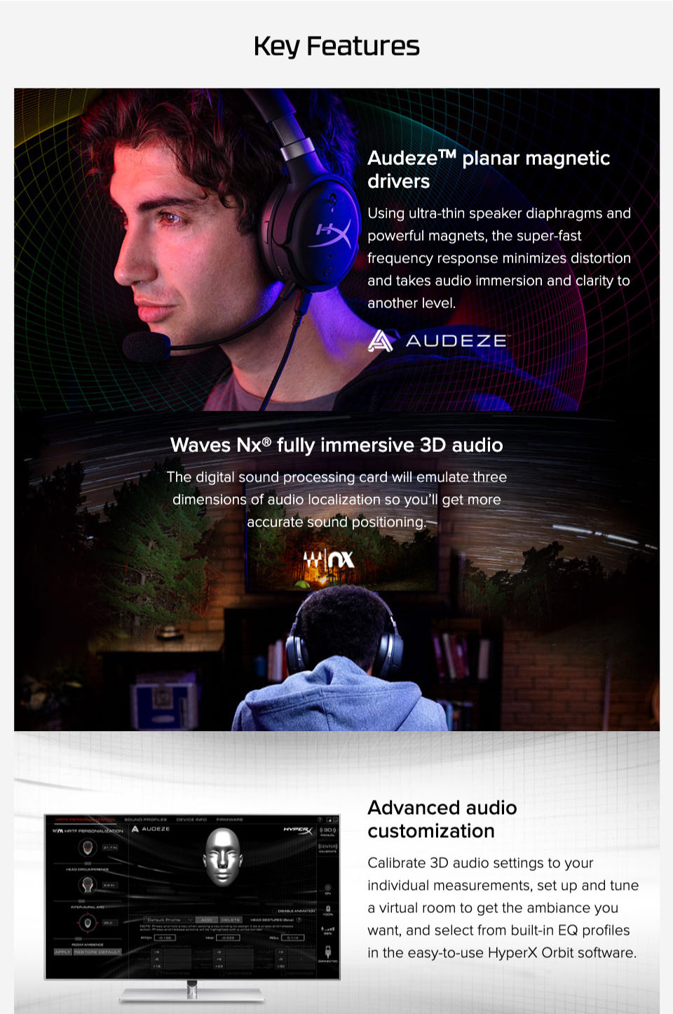 HyperX Cloud Orbit Gaming Headset features