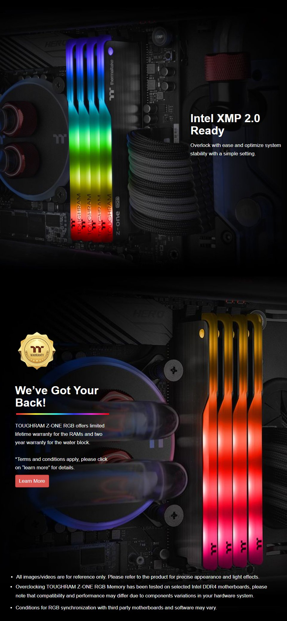 Thermaltake ToughRAM Z-ONE RGB 16GB (2x8GB) 3200MHz CL16 DDR4 features 4