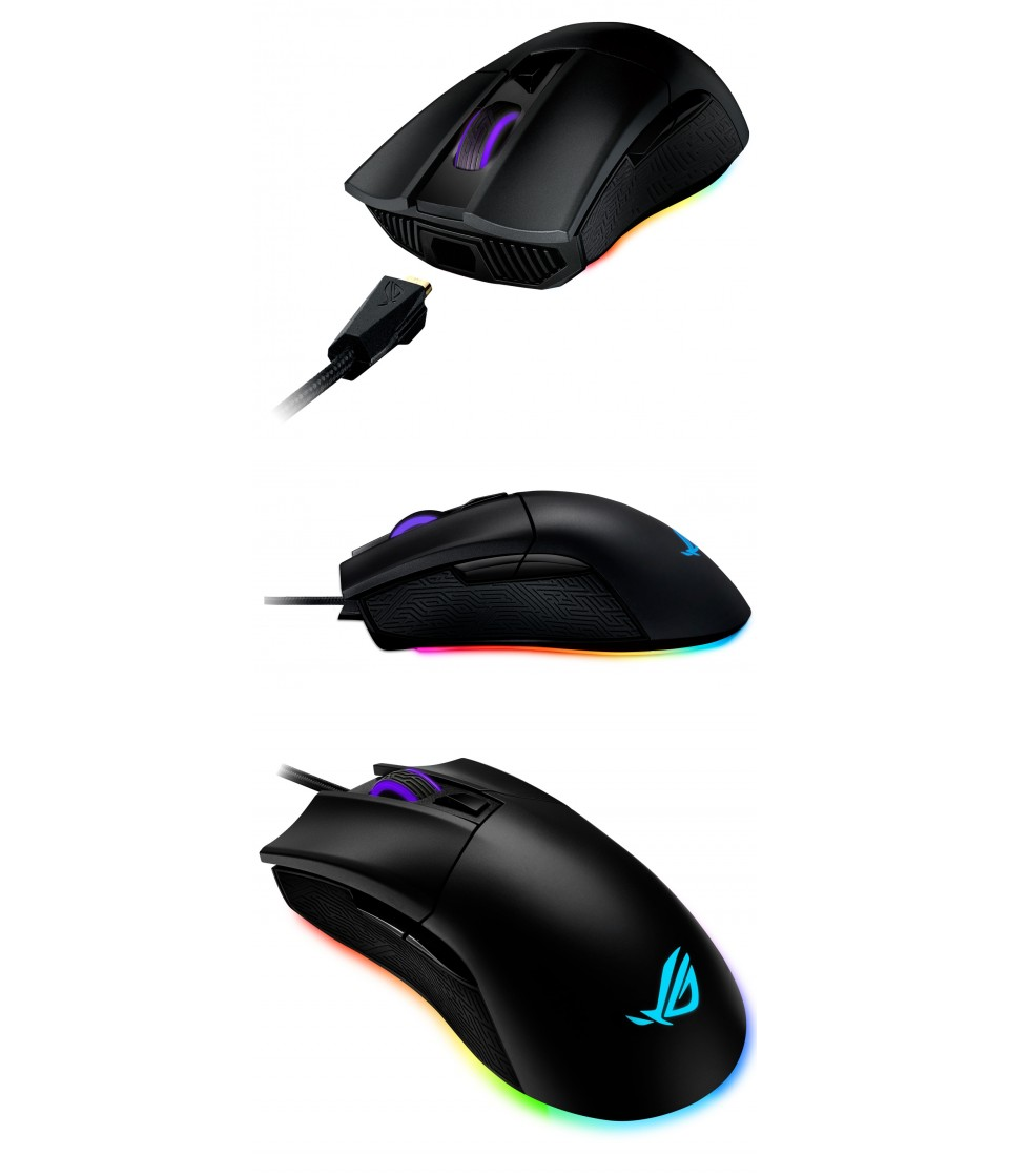 ASUS ROG Gladius II Origin RGB Optical Gaming Mouse Black product